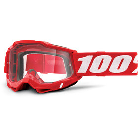 100% Accuri Anti-Fog Goggles Gen2 neon red/clear